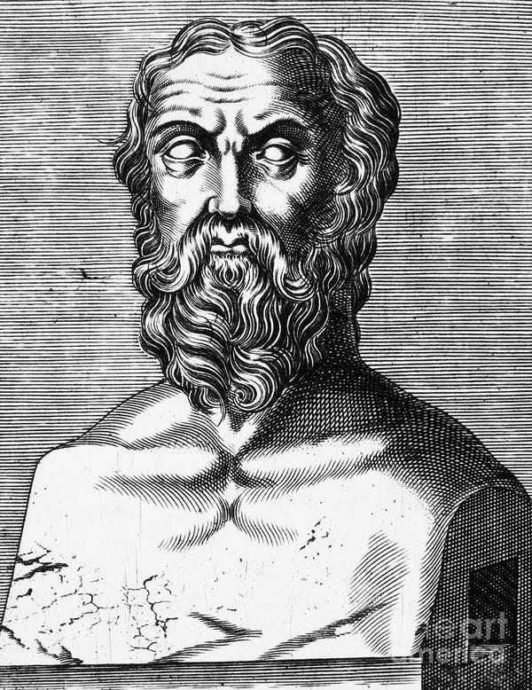 4th Century B.c Art Print featuring the photograph Xenophon (434?-?355 B.c.) by Granger