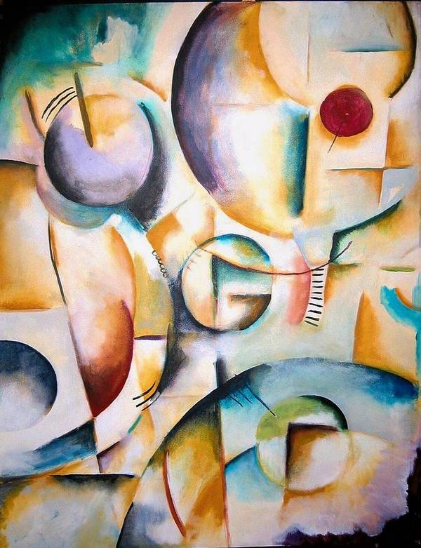 Cubism Art Print featuring the painting Circus by Halle Treanor