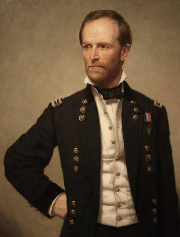 General Sherman Art Print featuring the painting General William Tecumseh Sherman 2 by War Is Hell Store