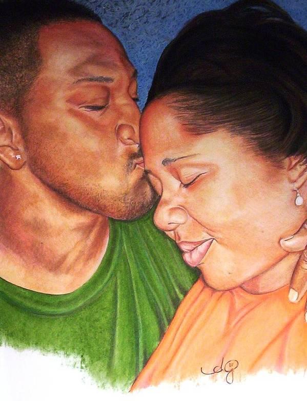 Angela Mustin Art Print featuring the pastel Heartofaman by Angela Mustin