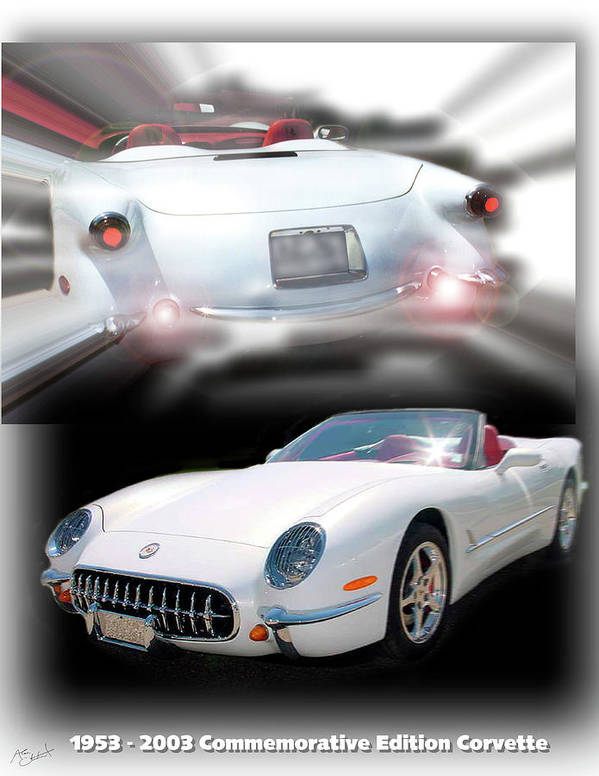 1953 - 2003 Commemorative Edition Corvette Art Print featuring the photograph 1953-2003 C5 Edition by Alan Olmstead