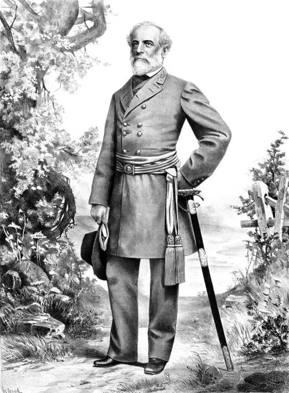 Robert E Lee Art Print featuring the mixed media General Robert E Lee by War Is Hell Store