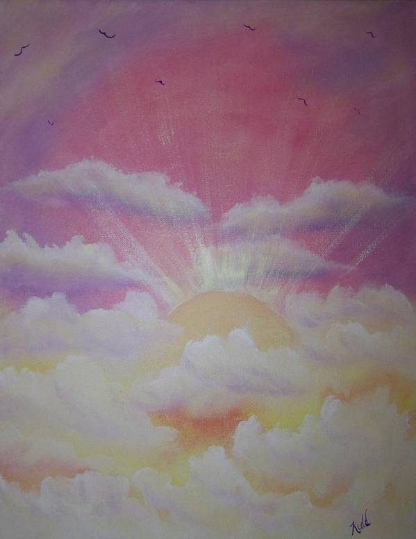 Bird Art Print featuring the painting The Ascension by Laurie Kidd