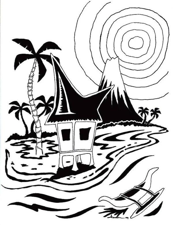 Ocean Art Print featuring the digital art 44 by Aaron Bodtcher