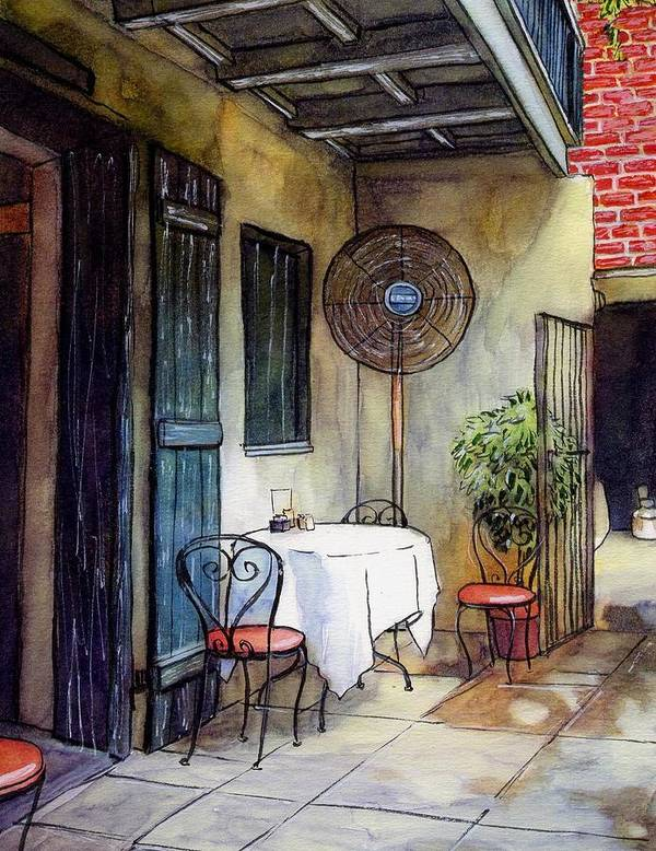 Napoleon House Art Print featuring the painting 61 by John Boles