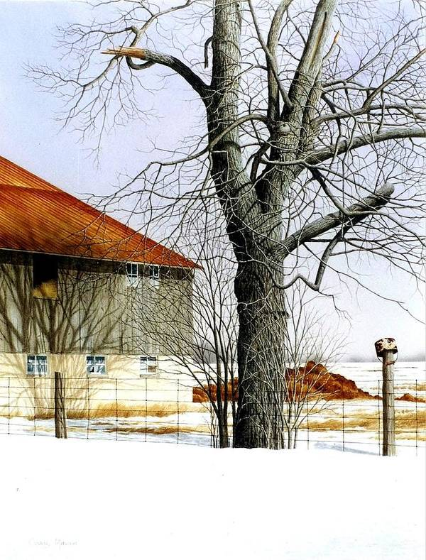 Country Art Print featuring the painting A Breath Of Country Air by Conrad Mieschke
