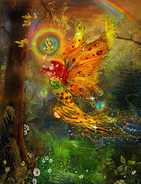 Fairy Art Print featuring the painting A Fairy Tale by Steve Roberts
