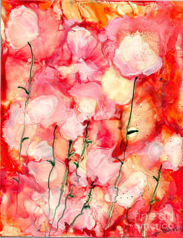 Abstract Art Print featuring the painting A Good Feeling by Heather Hennick