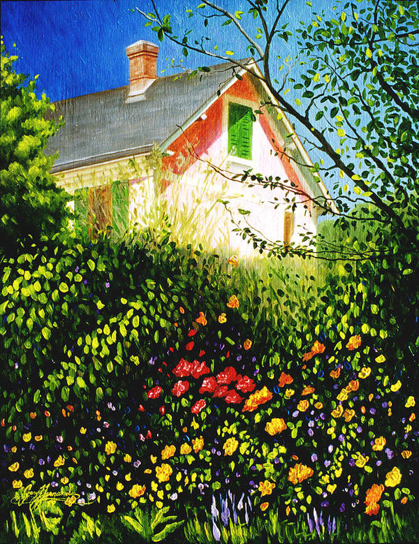 Monets House Art Print featuring the painting A View Of Monets House In Giverny France by Gary Hernandez