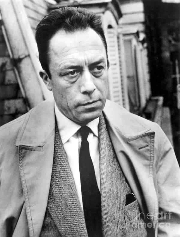 20th Century Art Print featuring the photograph Albert Camus (1913-1960) by Granger