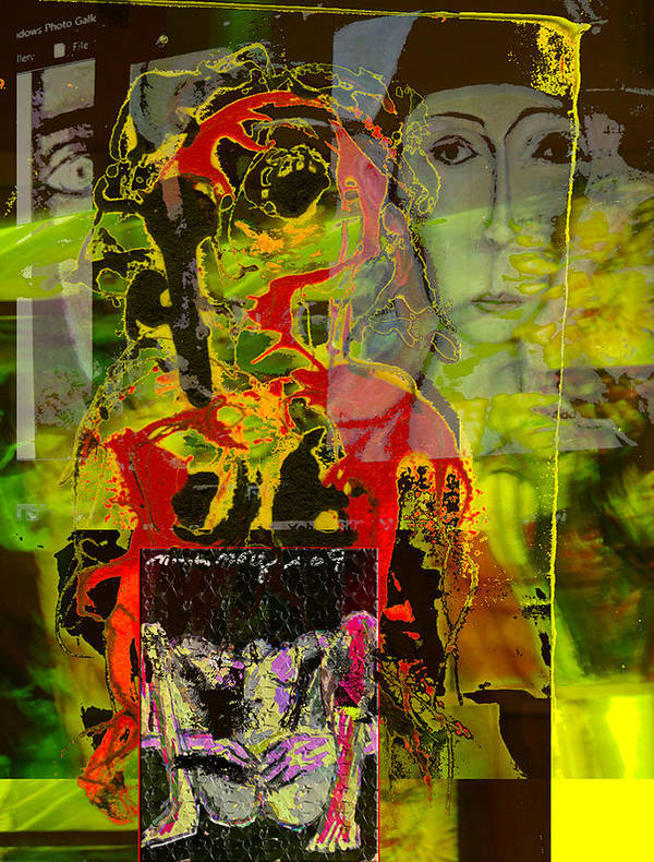 Tense Art Print featuring the mixed media Alienation by Noredin Morgan