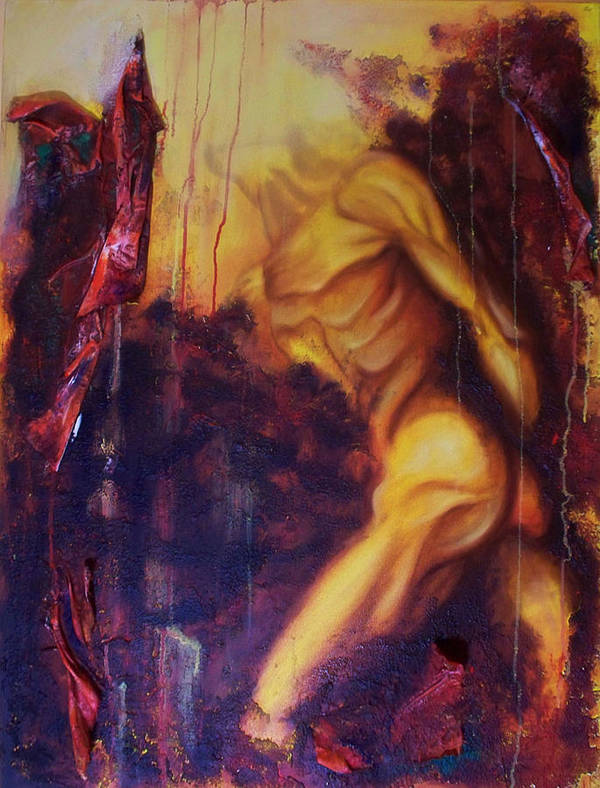 Original Paintings Art Print featuring the painting Almost Beyond1 by Hoparte Gallery