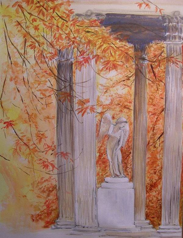 Angel Art Print featuring the painting Ange Petit Trianon Versailles by Lizzy Forrester