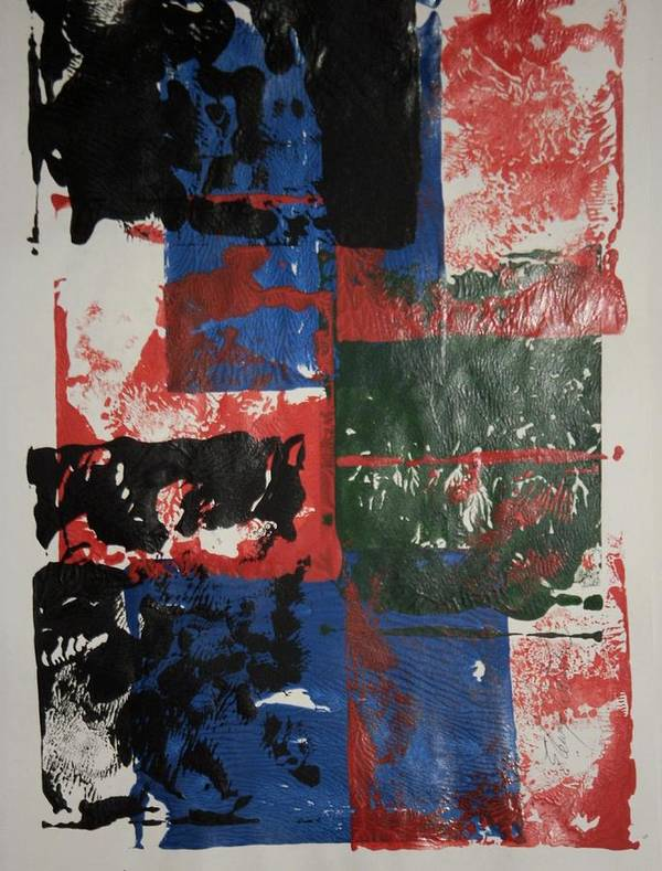 Abstract Art Print featuring the painting Ash Wednesday by Edward Wolverton