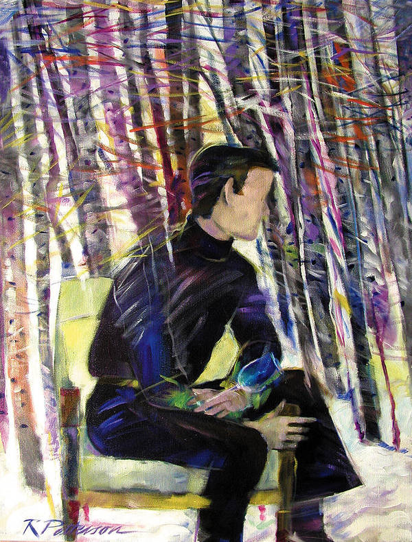 Figurative Art Print featuring the painting Aspen Thoughts by Ron Patterson