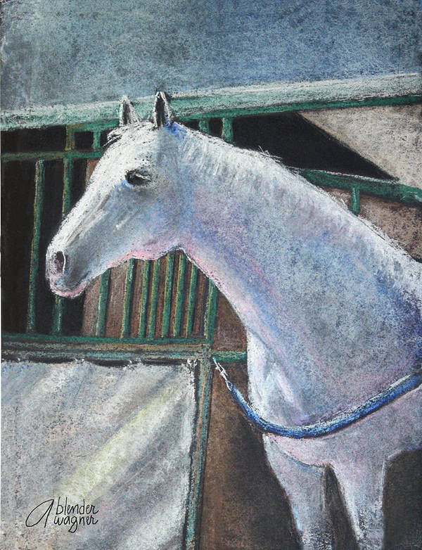 Horse Art Print featuring the pastel Beauty by Arline Wagner
