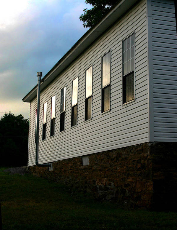 Church Art Print featuring the photograph Blackburn Church Sunset by Curtis J Neeley Jr