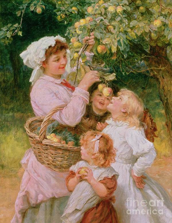 Frederick Morgan Art Print featuring the painting Bob Apple by Frederick Morgan
