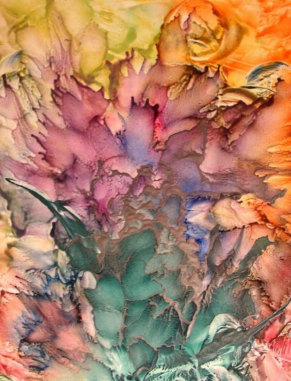 Abstract Art Print featuring the painting Bouquet by John Vandebrooke