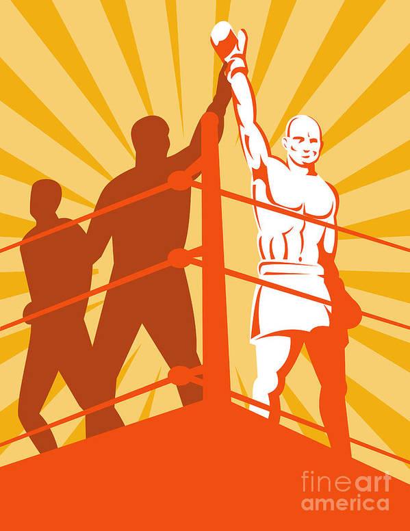 Boxing Art Print featuring the digital art Boxing Champion by Aloysius Patrimonio