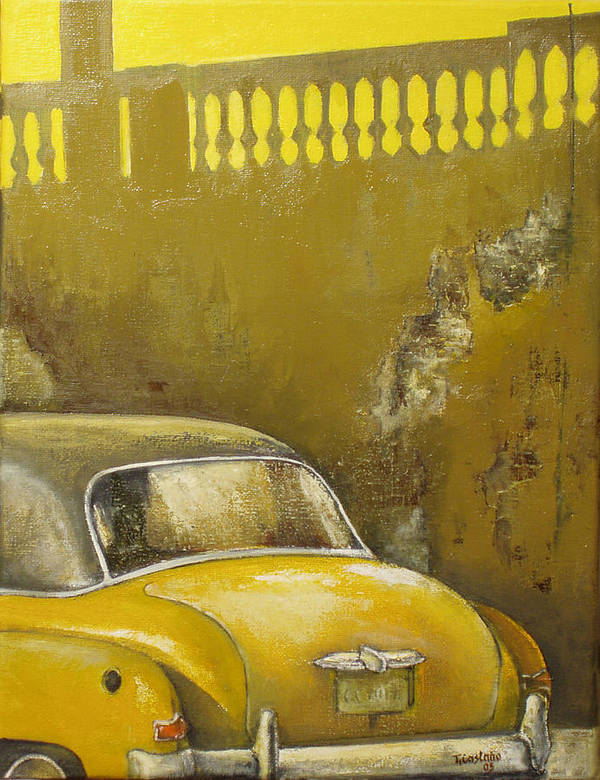 Havana Art Print featuring the painting Buscando La Sombra by Tomas Castano