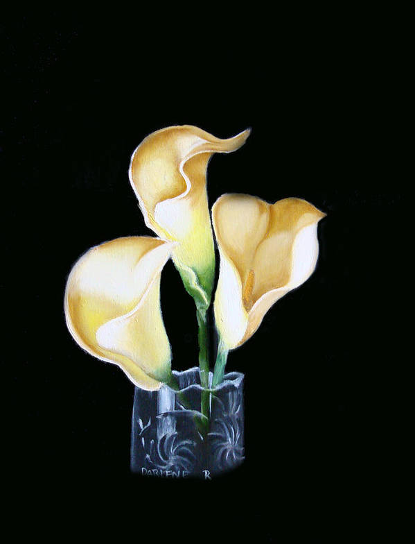 Calla Lilies Art Print featuring the painting Calla Lily by Darlene Green