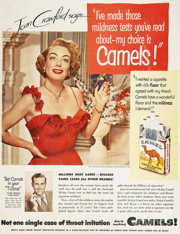 1951 Art Print featuring the photograph Camel Cigarette Ad, 1951 by Granger