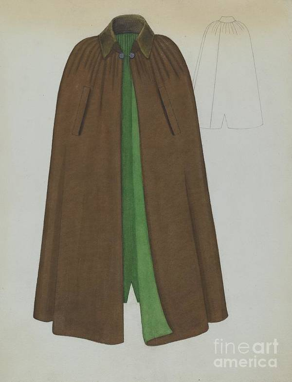 Art Print featuring the drawing Cape by Marie Mitchell