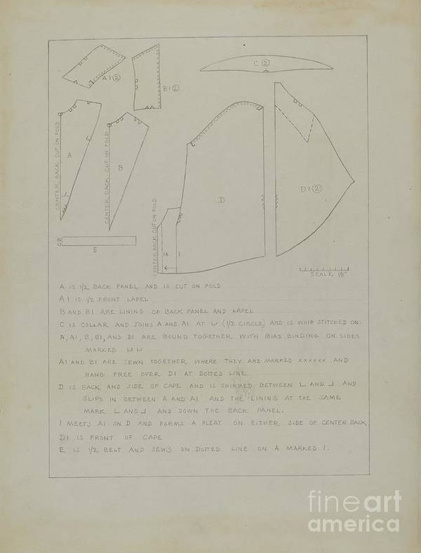 Art Print featuring the drawing Cape (pattern) by Charles Criswell