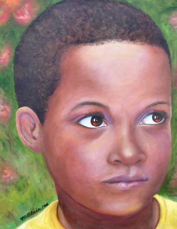 Children Art Print featuring the painting Caribe Child by Merle Blair