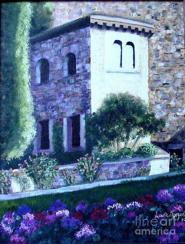 Italy Art Print featuring the painting Castle Sestri Levante by Laurie Morgan