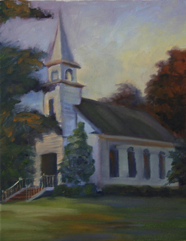 Church Art Print featuring the painting Children by Jill Holt