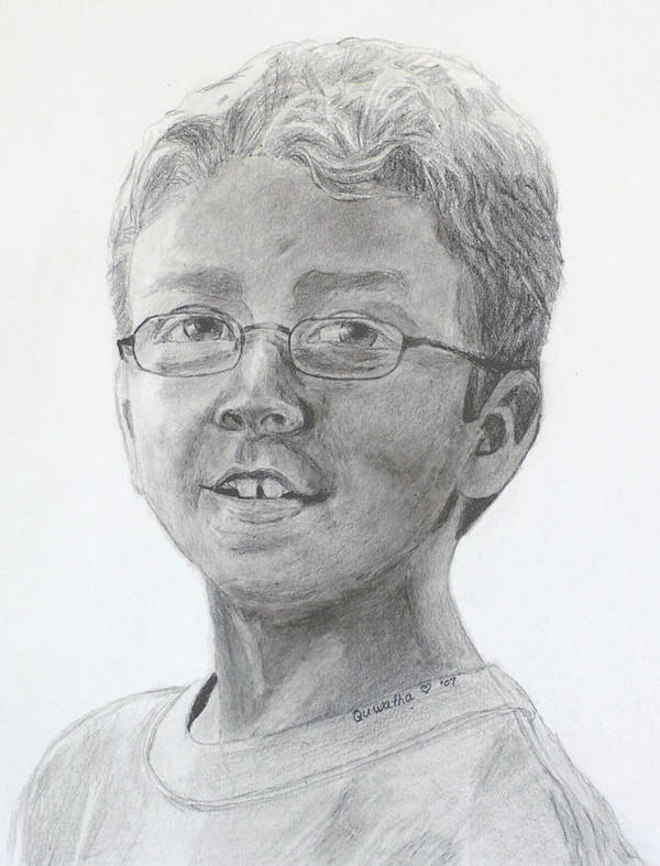 Chris Art Print featuring the drawing Chris Dovick by Quwatha Valentine