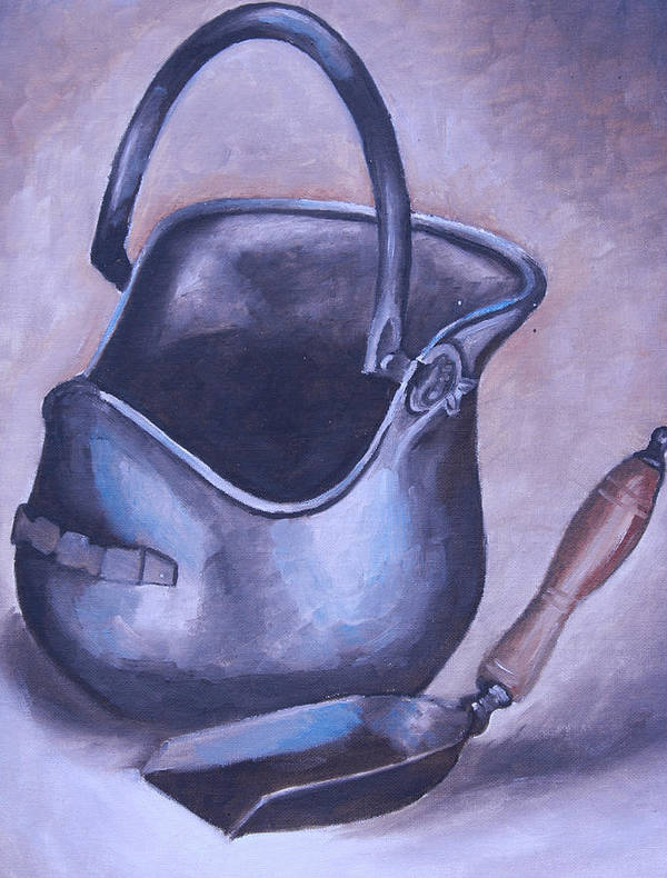 Coal Mining Paintings Art Print featuring the painting Coal Pail by Mikayla Ziegler