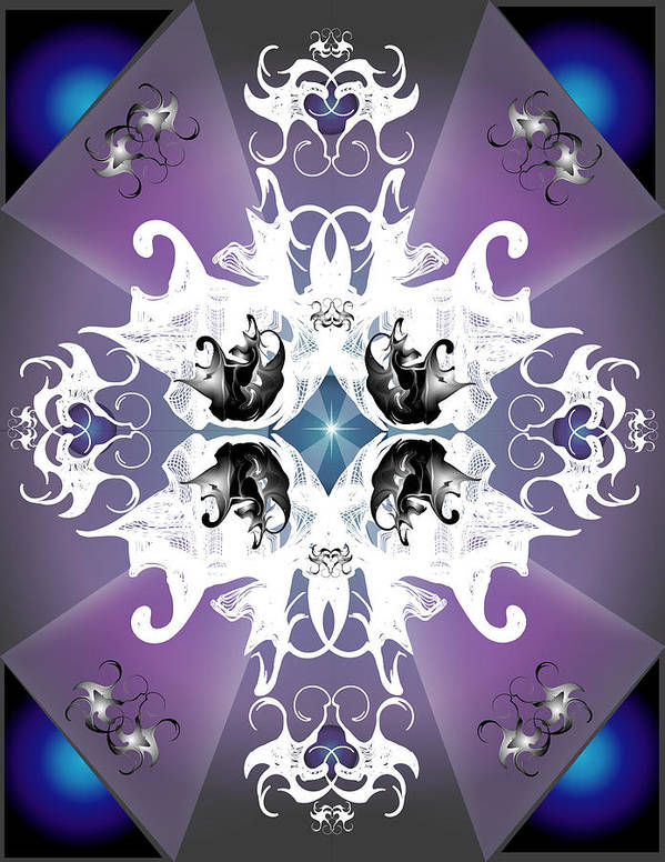 Fantasy Art Print featuring the digital art Coat Of Arms by George Pasini