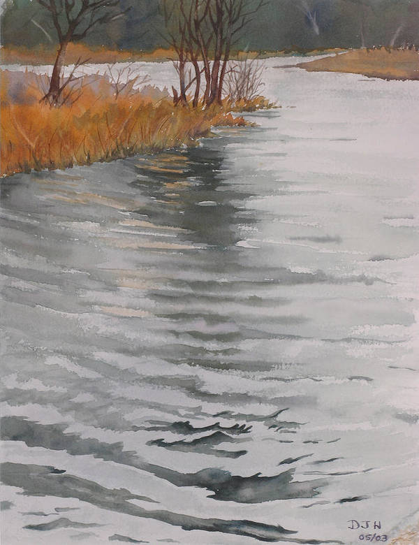 Art Print featuring the painting Cold Water by Debbie Homewood