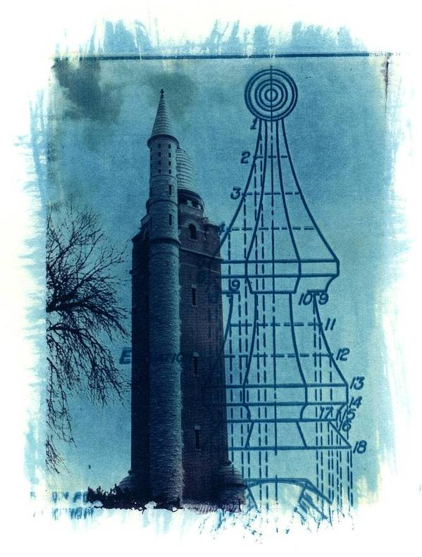 Alternative Process Photography Art Print featuring the photograph Compton Blueprint by Jane Linders