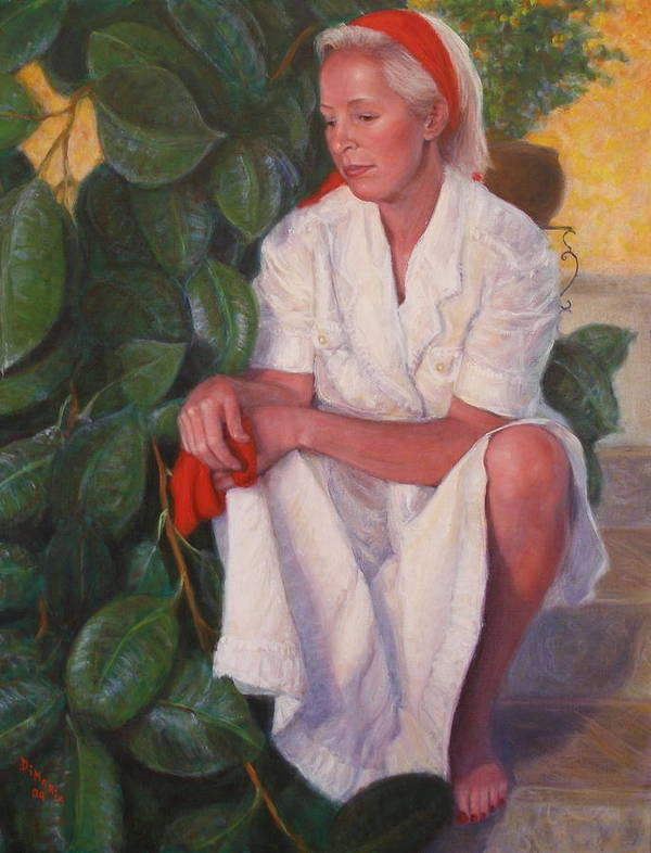 Realism Art Print featuring the painting Contemplation by Donelli DiMaria