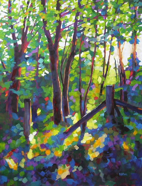 Trees Art Print featuring the painting Corner Post by Mary McInnis