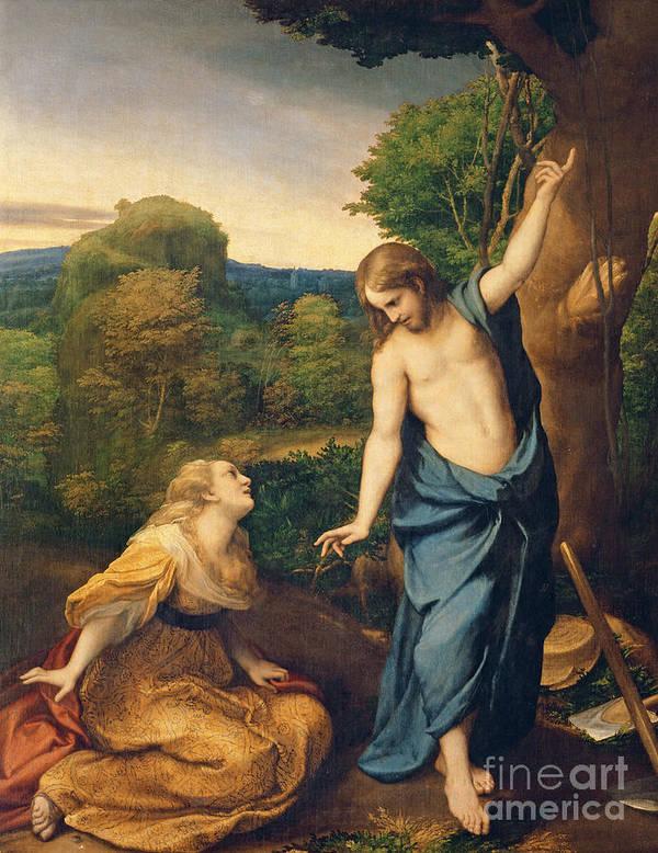Noli Me Tangere Art Print featuring the painting Correggio by Noli Me Tangere