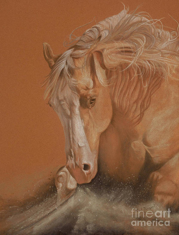 Horse Art Print featuring the painting Cutting Horse by Gail Finger