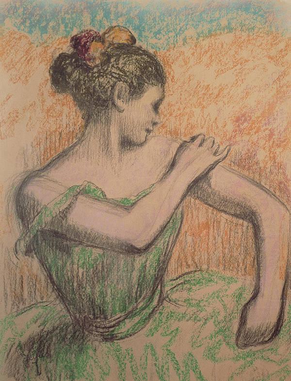 Dancer Art Print featuring the pastel Dancer by Degas
