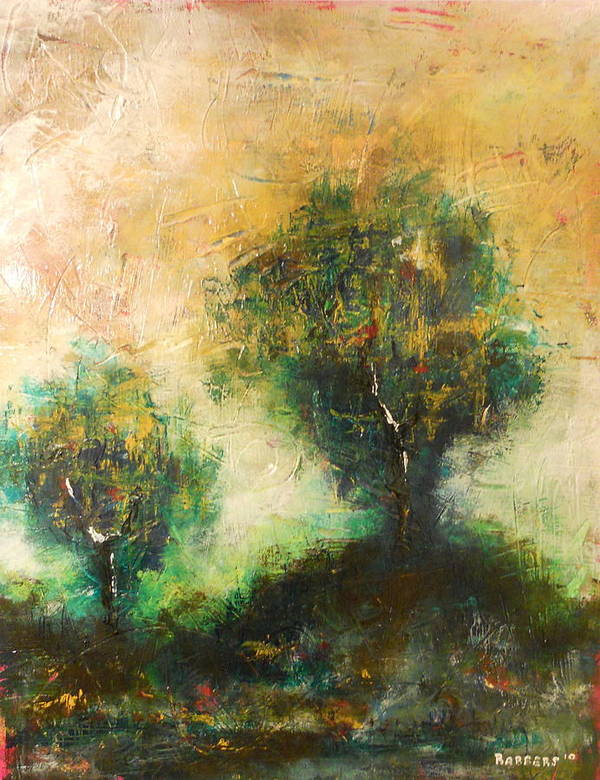 Tres Art Print featuring the painting Dawns Dew 2 by Eric Rabbers