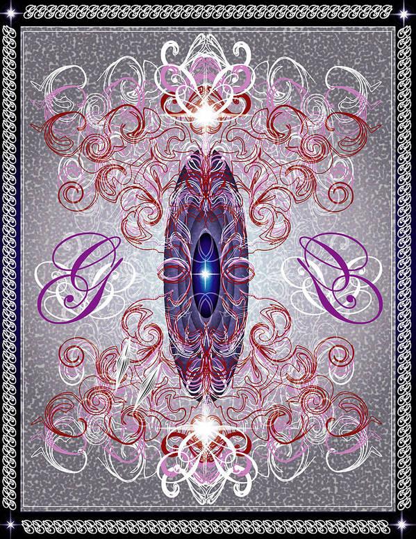 Decor Art Print featuring the digital art Decorative No8 by George Pasini