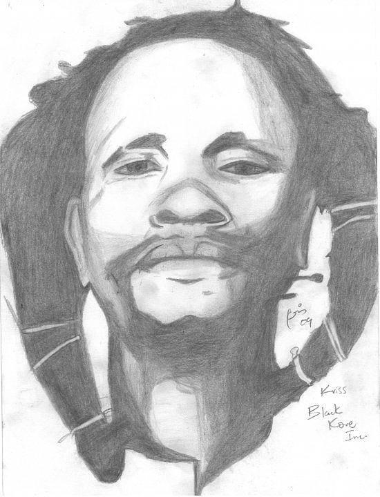 Dedan Kimathi Portrait Art Print featuring the drawing Dedan Kimathi by Chris Gitau