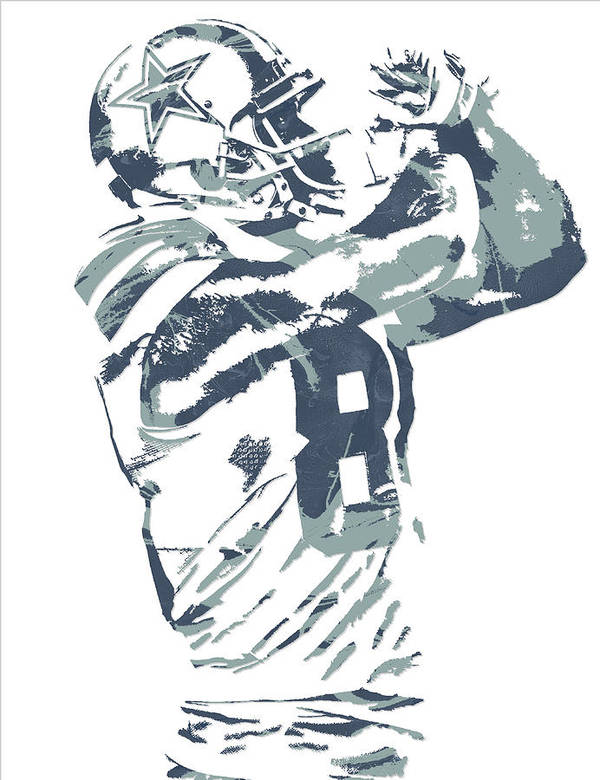 Dez Bryant Dallas Cowboys Pixel Art 20 Art Print