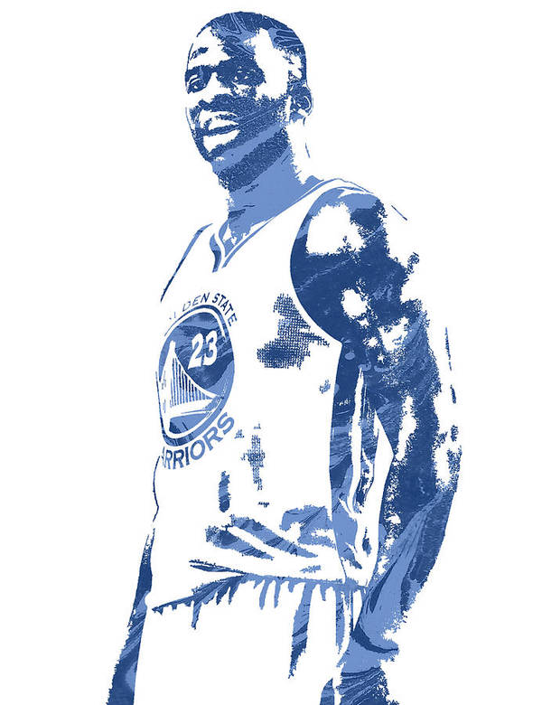 0fcada0b0d7 Draymond Green Art Print featuring the mixed media Draymond Green Golden  State Warriors Pixel Art 3. Wall View 001