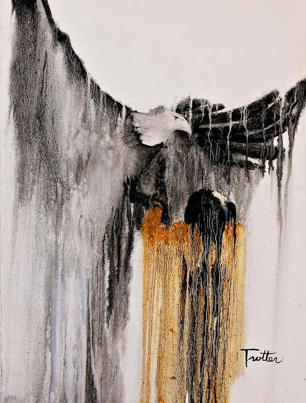 Natives Art Print featuring the painting Eagle Spirit by Patrick Trotter