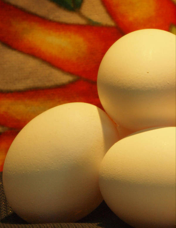 Eggs Art Print featuring the photograph Eggs Tres by Irma BACKELANT GALLERIES