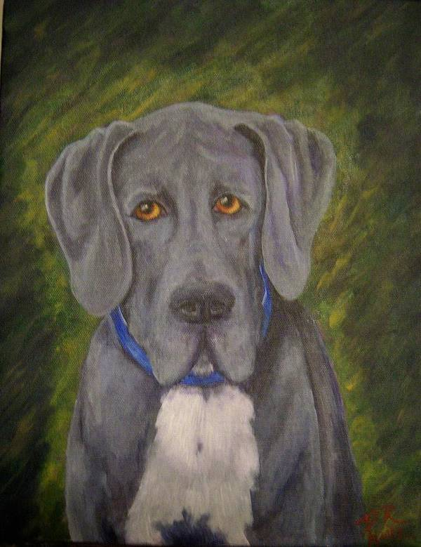 Dog Art Print featuring the painting ELI by Patricia R Moore